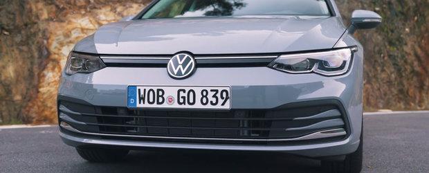 """Au testat in sfarsit noul Volkswagen Golf 8. """"Arata de parca s-a topit"""""""