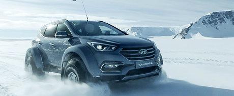 Au traversat in premiera Antarctica cu o...Hyundai Santa Fe diesel
