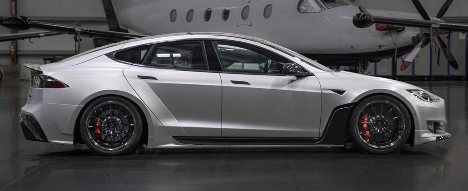 Au venit la SEMA cu o Tesla Model S modificata complet. Pachetul costa de la 50.000 de dolari in sus