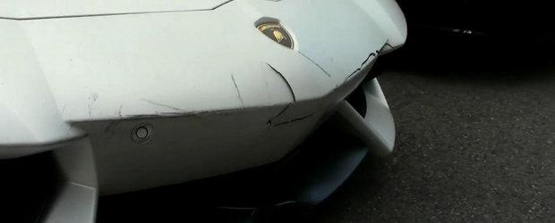 Auch! Cel mai ghinionist valet din lume loveste un Lamborghini Aventador