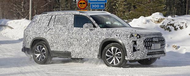 Audi a gasit ac de cojocul noului BMW X7. Nemtii au scos in teste primul Q9 din istorie