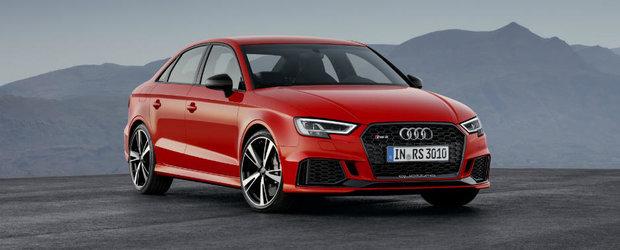 Audi a prezentat noul RS3 Sedan la Paris. Partea proasta este ca nu se stie cand va ajunge in Europa
