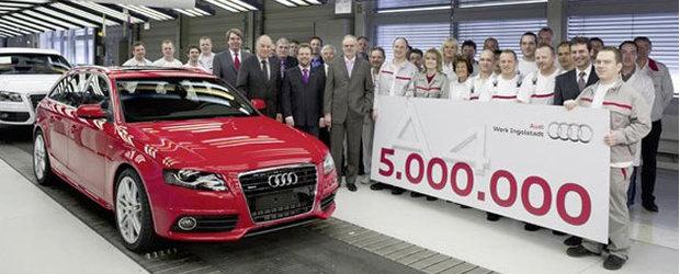 Audi a produs modelul A4 cu numarul 5.000.000. La Multi Ani!