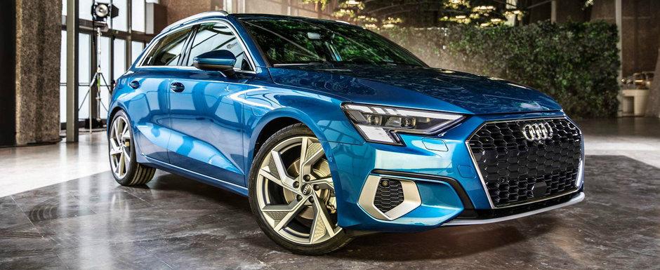 Audi a publicat deja preturile noului A3 Sportback. Cat costa in Romania