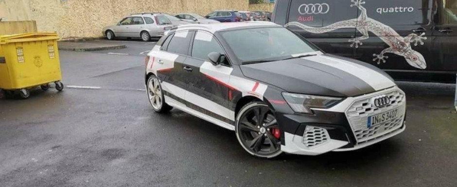 """Audi a renuntat sa mai """"ascunda"""" noul S3, asa ca toata lumea poate vedea acum cum arata hot-hatch-ul cu 300+ CP sub capota"""