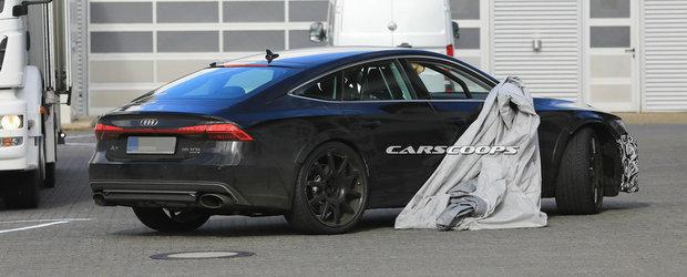 Audi a scos in teste berlina cu 700 CP sub capota. Prototipul imprumuta cateva dintre elementele versiunii de serie