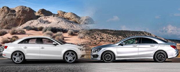 Audi A3 vs Mercedes CLA: Sedanul clasic sau coupe-ul cu patru usi?