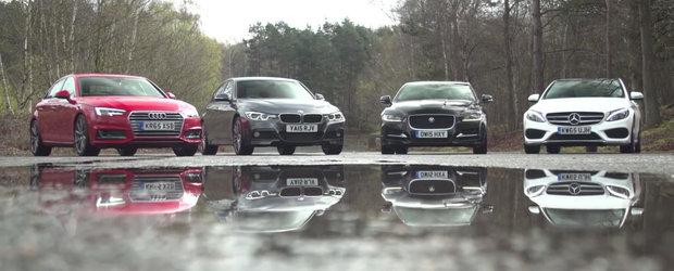 Audi A4, BMW Seria 3, Mercedes C-Class sau Jaguar XE? Raspunsul il aflam de AICI.