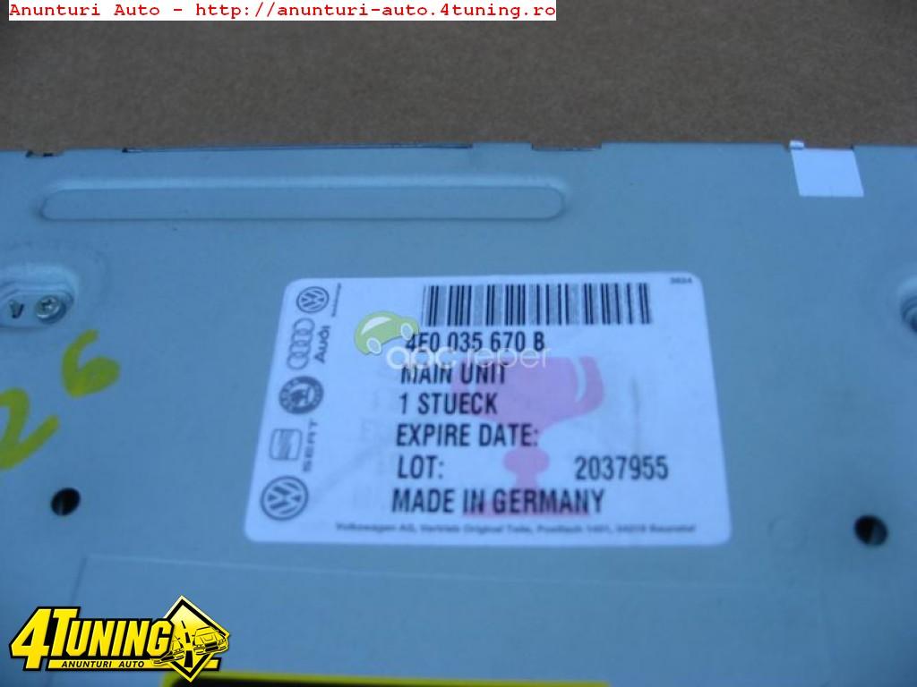 AUDI A6 4F A8 4E MMI 3G AUDI MULTIMEDIA DVD NAVIGATIE MARE 4E0 035670
