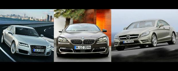 Audi A7 versus BMW Seria 6 Gran Coupe versus Mercedes CLS