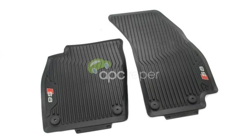 """Audi A8 D5 4N - Covorase Cauciuc fata Originale - Inscriptie """"S8"""" (2018 - 2020)"""