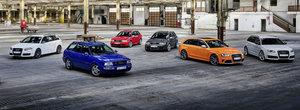 """Audi celebreaza 25 de ani de RS. Totul a inceput cu RS2, un break de performanta cu motor """"tunat"""" de Porsche"""