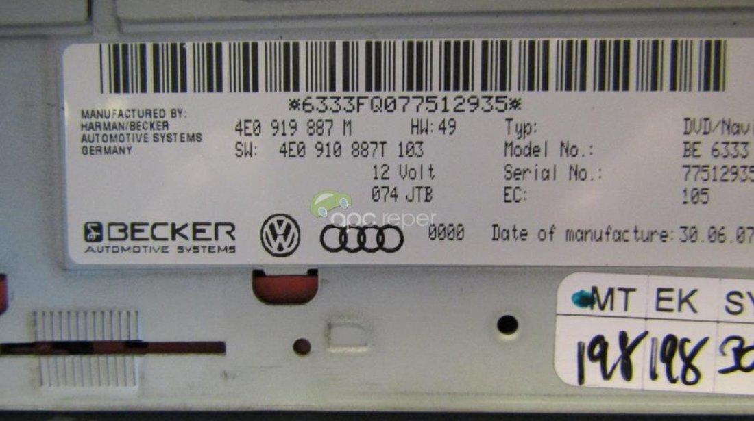 Audi DVD Unit Navigatie MMI 2G 4E0919887M - 4E0910887T