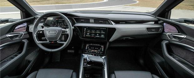 Audi ia fata Tesla si lanseaza pe piata prima masina de serie cu trei motoare electrice. GALERIE FOTO