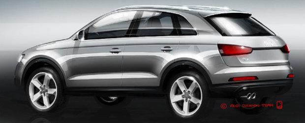Audi Q3 - Primele schite oficiale!