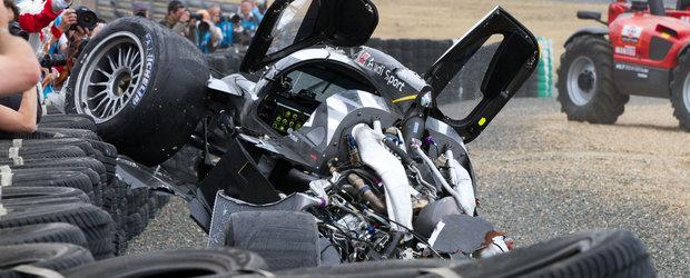 Audi R18 No 1 se accidenteaza pentru a doua oara la Le Mans