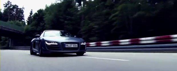 Audi R8 GT Spyder isi face din nou aparitia, ne cucereste cu un promo orgasmic