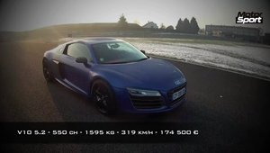 Audi R8 V10 Plus in actiune