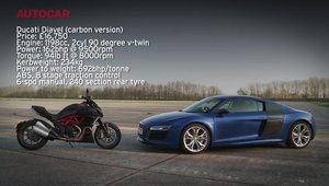 Audi R8 V10 Plus vs. Ducati Diavel