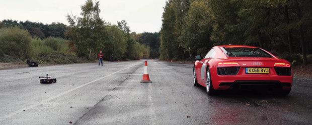 Audi R8 vs. Audi R8: masina sau jucaria cu telecomanda?