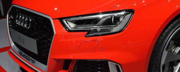 Audi RS3 facelift aterizeaza la Geneva cu 400 de cai si un pret pe masura