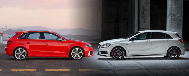Audi RS3 Sportback vs Mercedes A45 AMG: Ce alegi si de ce?