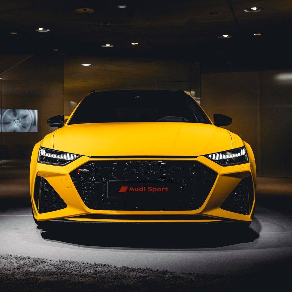 Audi RS6 Avant in Vegas Yellow