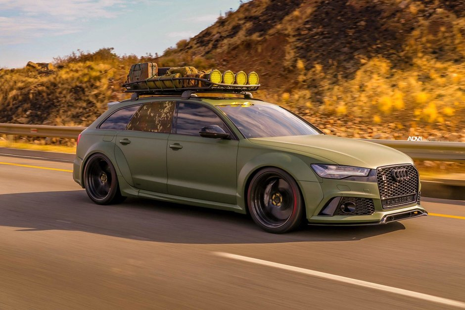 Audi RS6 in Army Green