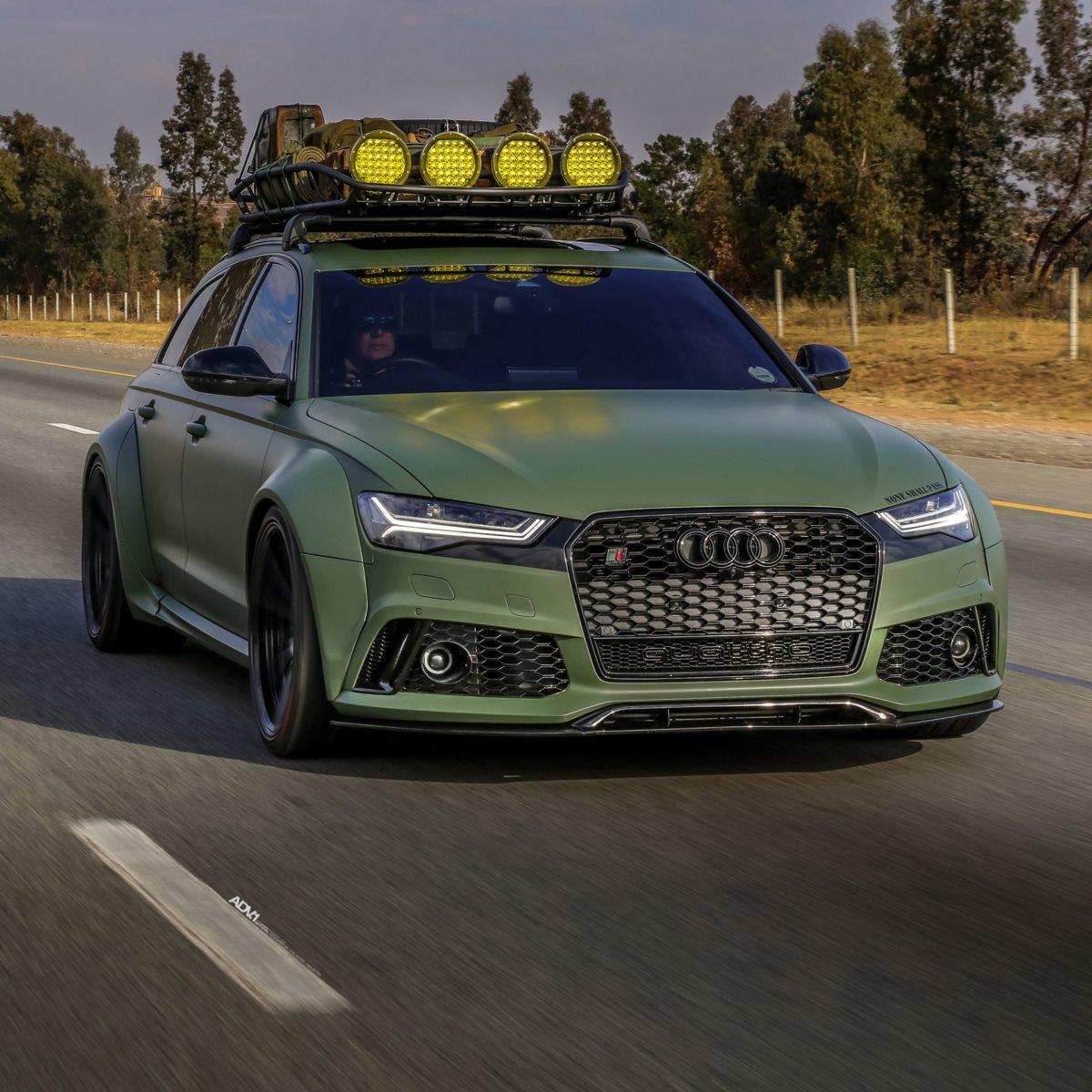 Audi RS6 in Army Green - Audi RS6 in Army Green