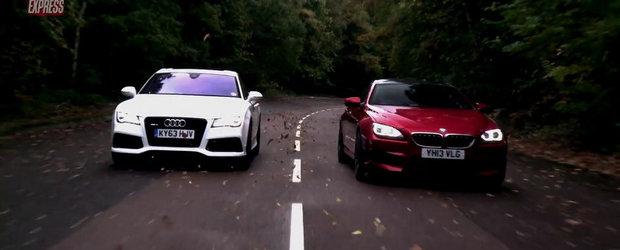 Audi RS7 Sportback. BMW M6 Gran Coupe. DRAG RACE!