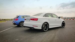 Audi S3 vs BMW M135i: Care-i mai rapid in linie dreapta?
