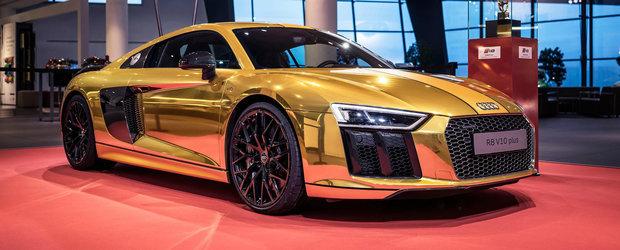 Audi scoate la iveala un R8 auriu cromat