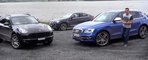 Audi SQ5 vs. Porsche Macan vs. BMW X4: batalia SUV-urilor diesel