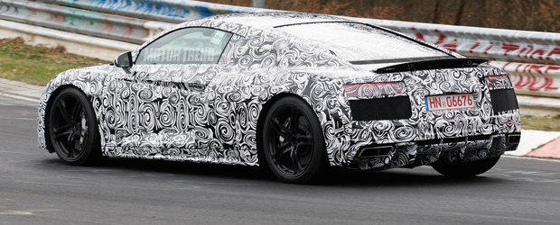 Audi testeaza la limita, pe Nurburgring, o noua generatie a supercarului R8