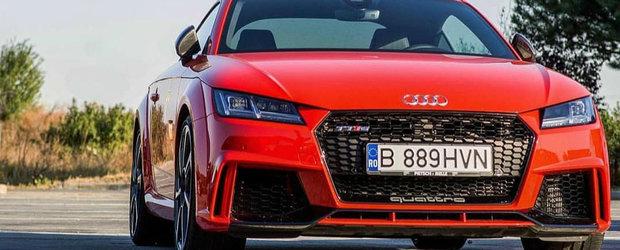 Audi TTRS, distractie cu 400 cp pe strazile din Romania