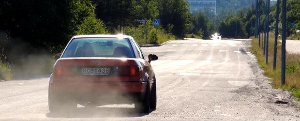 Audi-ul asta S2 de 1000 de cai putere nu sta la discutii. Uite plecarea care te va da pe spate