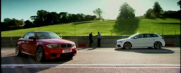 Audi vs BMW: RS3 Sportback, fata in fata cu Seria 1 M Coupe