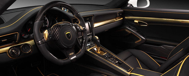 Aur, piele si carbon. Un Porsche 911 Turbo aparte, de la rusi