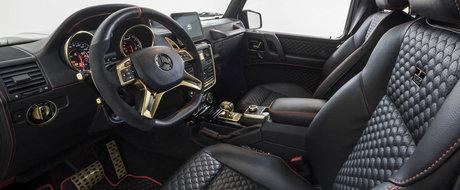 """Aur, plafon """"instelat"""" a la Rolls-Royce si 410.000 de euro. Cu alte cuvinte noul Brabus 850 Buscemi"""
