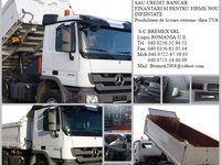 AUTOBASCULANTA  SECOND-HAND 6X4  MERCEDES 2644 BASCULARE PE 3 PARTI an 2010+credit-leasing
