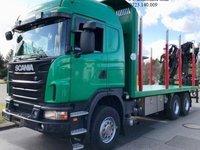 AUTOCAMION FORESTIER SCANIA 6X4 ARCURI FIER FATA-SPATE MACARA SPATE LOGLIFT-115-Z+LEASING DE LA 10 %