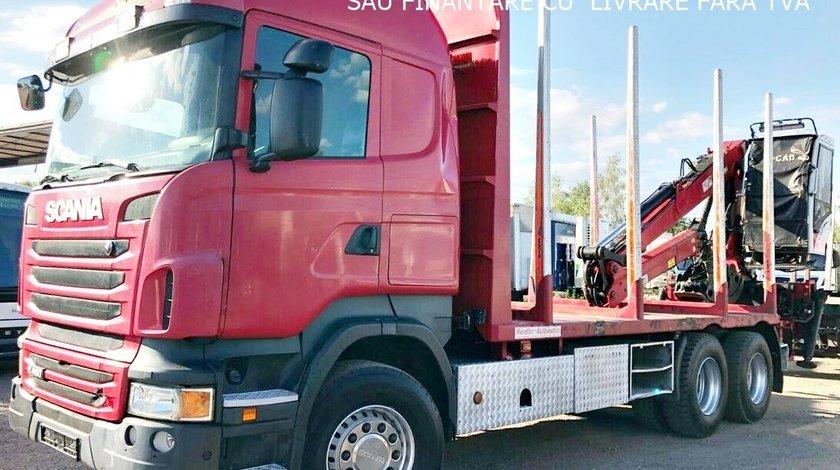 AUTOCAMION FORESTIER SCANIA R-480 6X4 MACARA PENZ M+LEASING DE LA 10%SAU FINANTARE CU LIVRARE FARA T