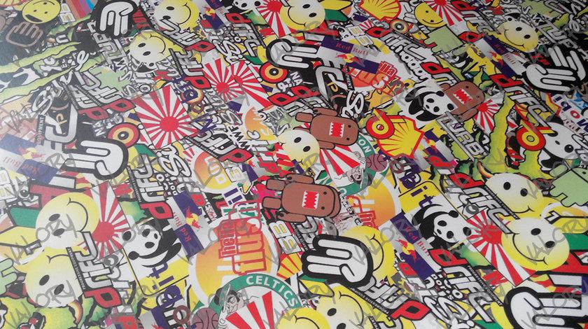 Autocolant folie Stickerbomb 150cm latime IEFTIN sticker bomb model3