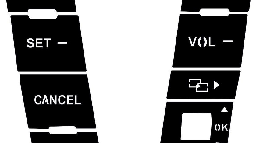 Autocolante butoane comenzi volan Volkswagen Touareg 7L