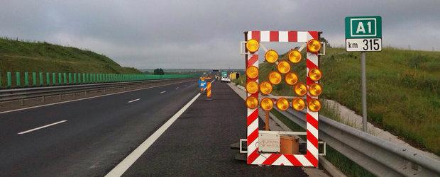 Autostrada A1 se scufunda...din nou. Reparatiile mai ample vin doar la primavara, pana atunci peticim