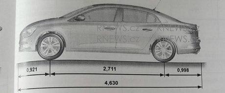 Avem primele imagini neoficiale ale noului Megane Sedan. Cand se lanseaza masina celor de la Renault