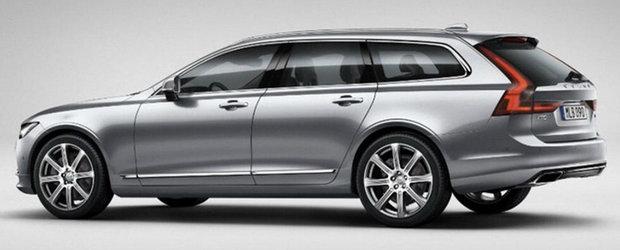 Avem primele imagini oficiale cu noul Volvo V90. Iata cum arata rivalul BMW-ului F11!