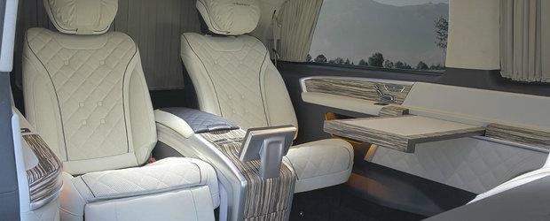 Avion, frate! Uite cum arata interiorul celui mai luxos Mercedes al momentului