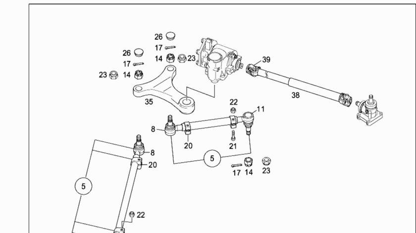 Ax directie intermediar la caseta directie Mercedes Tourismo 15 RHD (poz.38) MERCEDES OE A6294600411