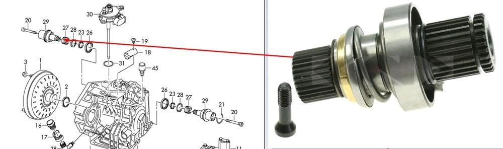 Ax planetar cutie viteza Transporter T5 Automat